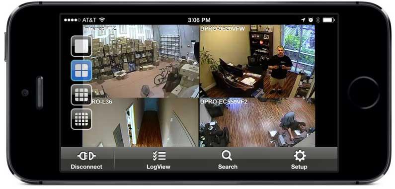 מערכת מצלמות אבטחה - אפליקציה לסמארטפון